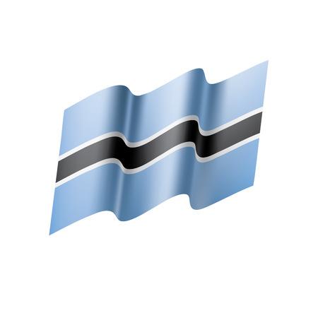 Botswana flag illustration on white background.