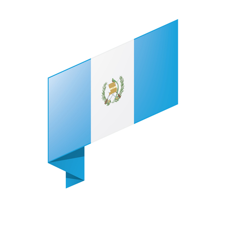 Guatemala flag, vector illustration on a white background Stock Vector - 98083189