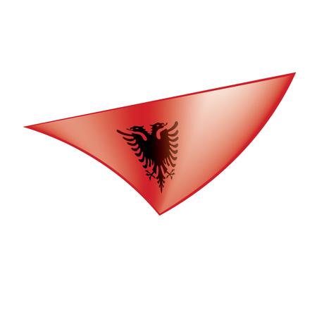 Albania flag, vector illustration