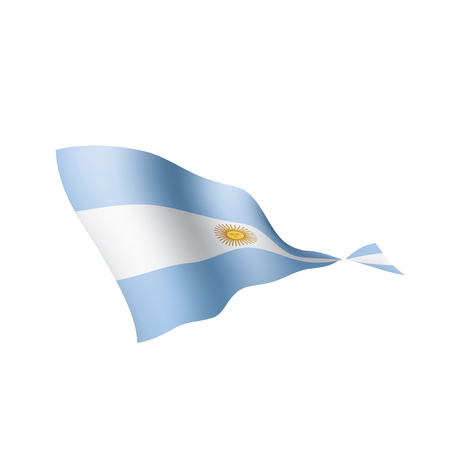 Argentina flag, vector illustration on a white background Vettoriali