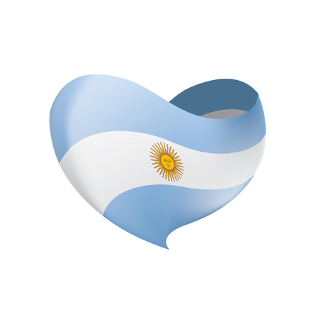 Argentina flag, vector illustration on a white background 일러스트
