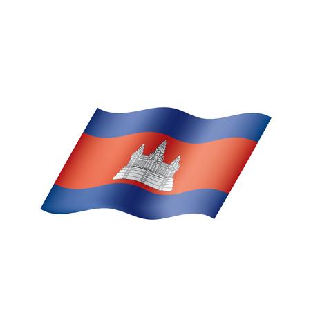 Cambodia flag, vector illustration Illustration