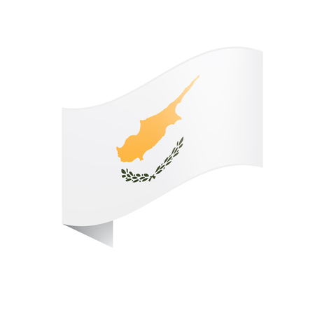 Cyprus flag, vector illustration on a white background Vectores