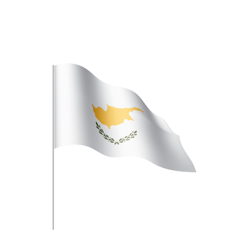 Cyprus flag, vector illustration on a white background. Vettoriali