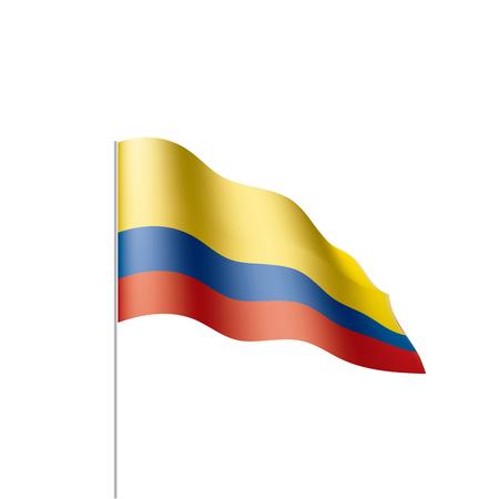 Drapeau de la Colombie, illustration vectorielle
