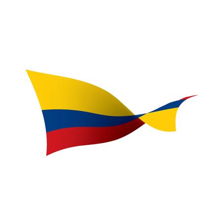 Colombia flag, vector illustration Ilustração