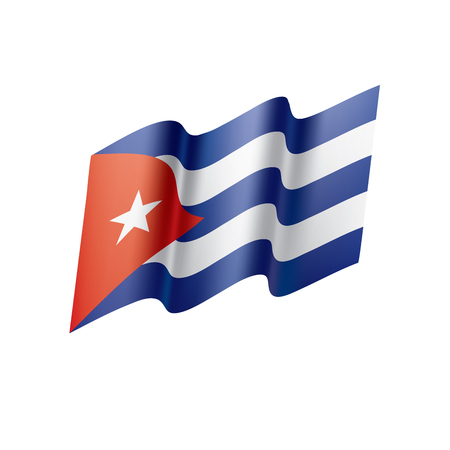 Cuba flag, vector illustration Illustration