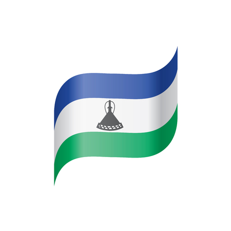 Lesotho flag, vector illustration on a white background Illustration