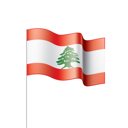 Lebanese flag, vector illustration