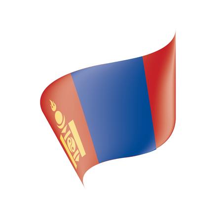 Mongolia flag, vector illustration on a white background Illustration