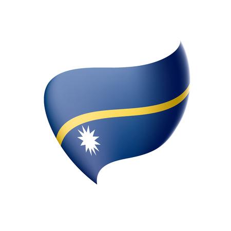 Nauru flag, vector illustration on a white background Illustration
