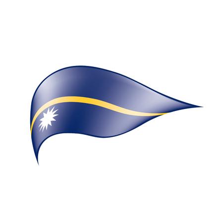 Nauru flag on white background, vector illustration. Illustration