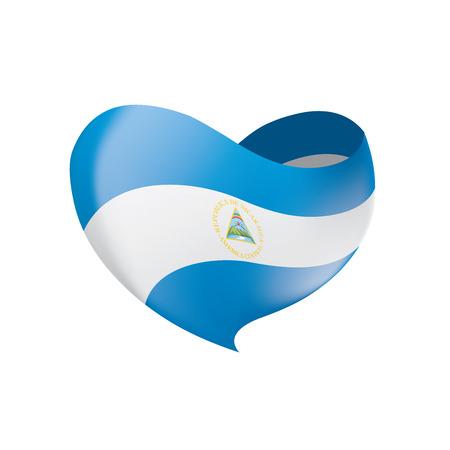 Nicaragua flag, vector illustration