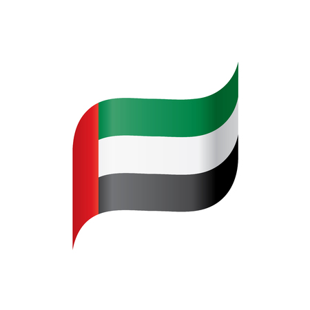 United Arab Emirates flag, vector illustration on a white background