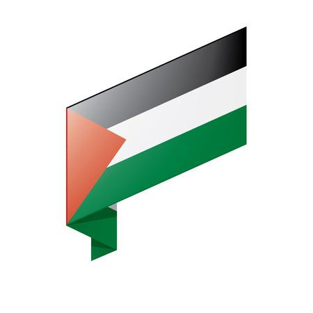 Palestine flag, vector illustration on a white background