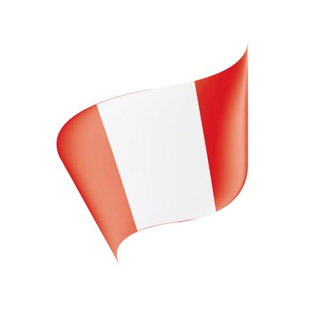 Peru flag, vector illustration on a white background