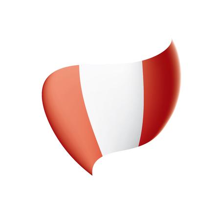 Peru flag, vector illustration isolated on white