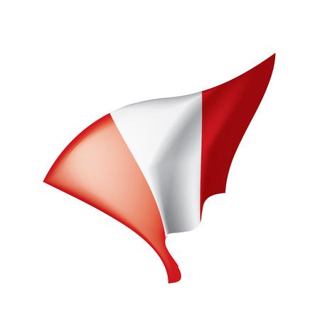 Peru flag, vector illustration.  イラスト・ベクター素材
