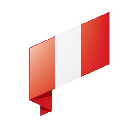 Peru flag, vector illustration. Illusztráció