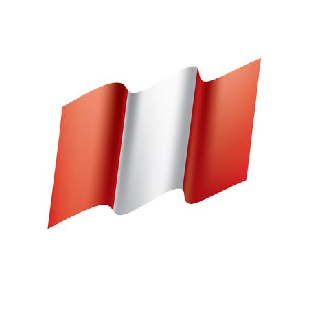 Peru flag, vector illustration. Illustration