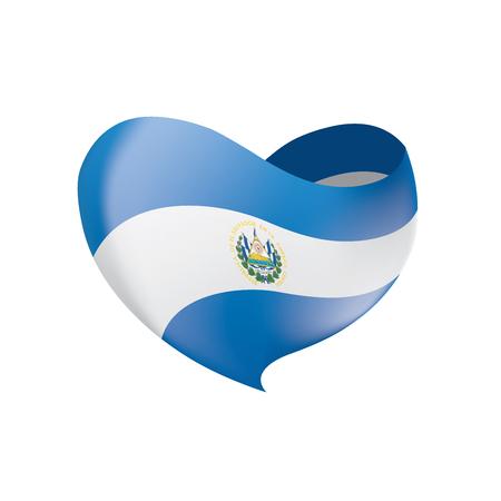 Salvador flag, vector illustration Ilustração
