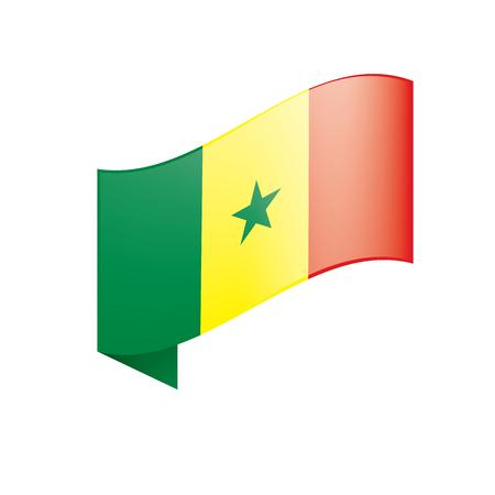 Senegal flag, vector illustration