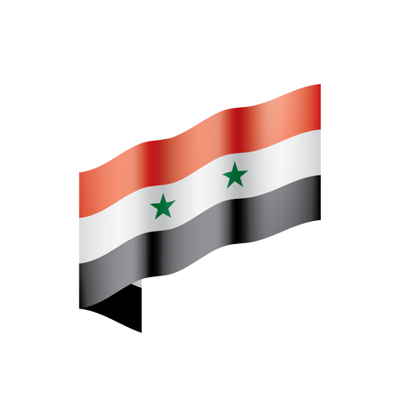 Syria flag, vector illustration on a white background Illustration