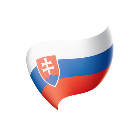 Slovakia flag, vector illustration isolated on  plain background Illustration