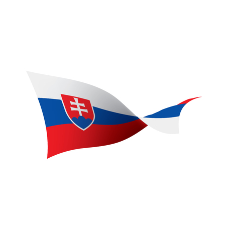 Slovakia flag, vector illustration isolated on  plain background Ilustracja