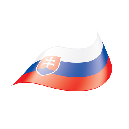 Slovakia flag, vector illustration isolated on  plain background Illustration