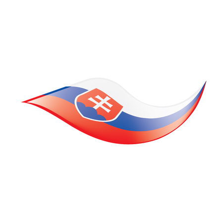 Slovakia flag, vector illustration
