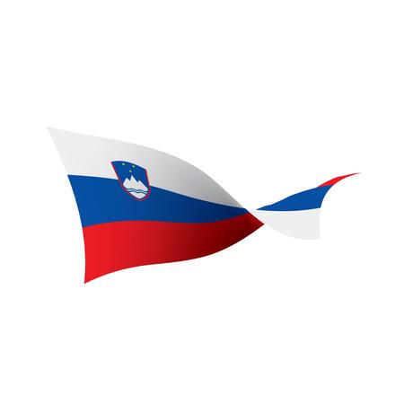 Slovenia flag, vector illustration on a white background