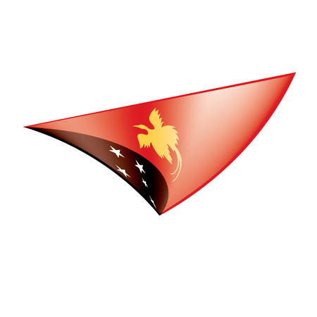 Papua New Guinea flag, vector Illustration