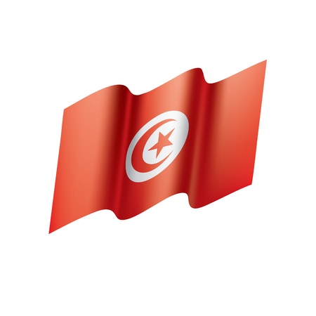 Tunisia flag, vector illustration