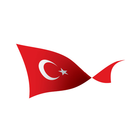 Turkey flag, vector illustration