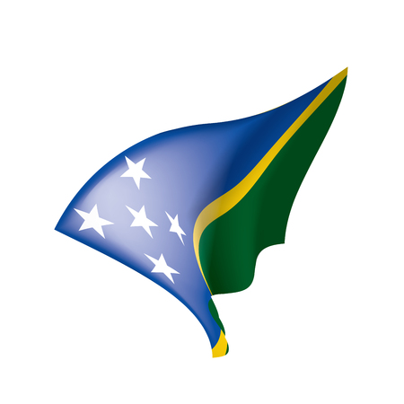 Solomon Islands flag, vector illustration