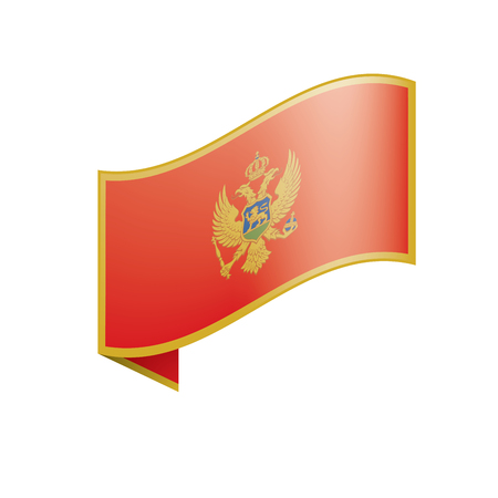 montenegro flag, vector illustration