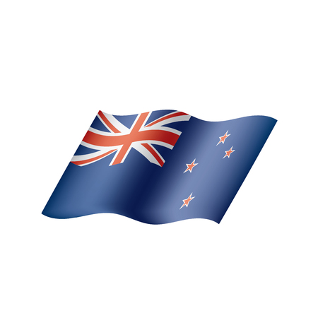 New Zealand flag, vector illustration