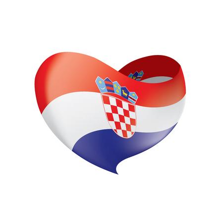 Croatia flag, vector illustration on a white background Illusztráció