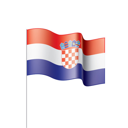 Croatia flag, vector illustration on a white background 矢量图像