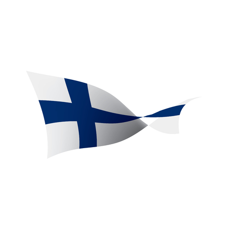 Finland flag, vector illustration on a white background Vectores