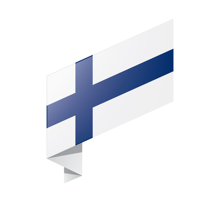 Finland flag, vector illustration on a white background Çizim