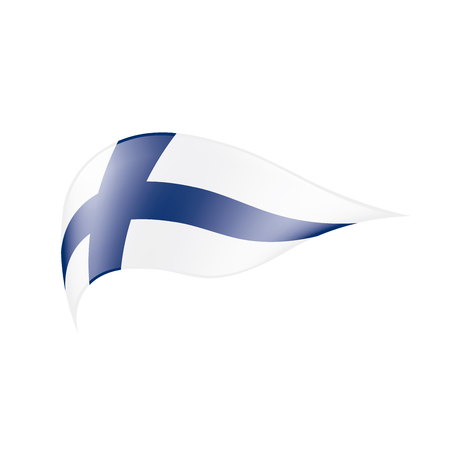Finland flag, vector illustration on a white background Ilustrace