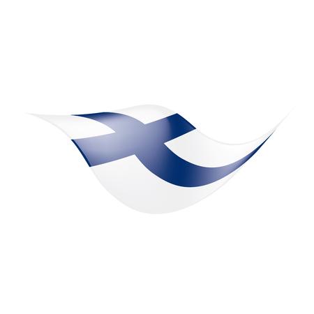 フィンランド国旗、白い背景にベクトルイラスト 写真素材 - 98420345