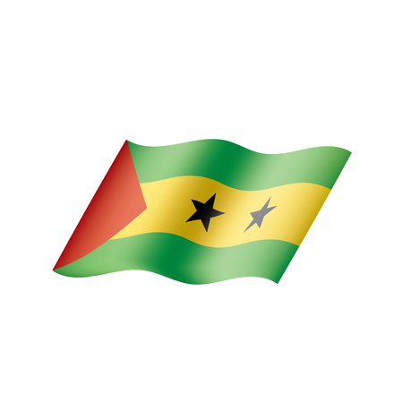 Sao Tome and Principe flag, vector illustration on a white background Vetores