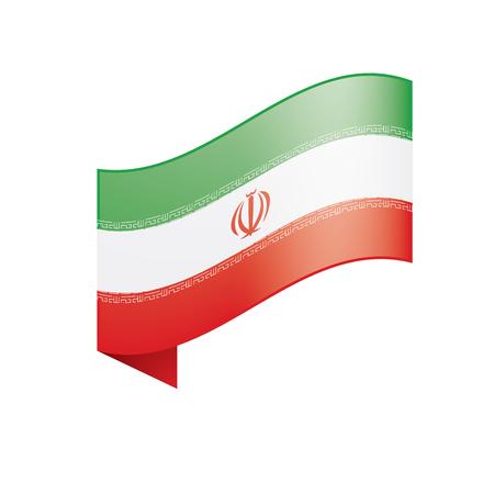 Iran flag, vector illustration