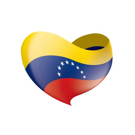 Venezuela flag on white background, vector illustration. Illustration