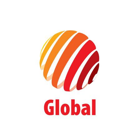 Abstract globe logo. Vector illustration. Design element