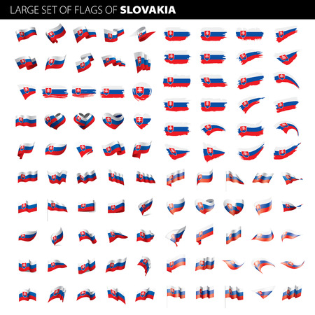 Slovakia flag vector illustration Ilustracja