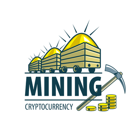 Digital currency mining Archivio Fotografico